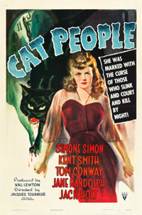"Cat People (RKO, 1942). One Sheet (27"" X 41"")"