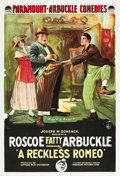 "Movie Posters:Comedy, A Reckless Romeo (Paramount, 1917). One Sheet (27"" X 41"").. ..."
