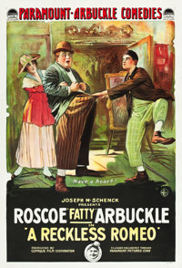 "A Reckless Romeo (Paramount, 1917). One Sheet (27"" X 41"")"