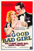 "Movie Posters:Drama, The Good Bad Girl (Columbia, 1931). One Sheet (27"" X 41"") Style A....."