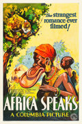 "Movie Posters:Documentary, Africa Speaks! (Columbia, 1930). One Sheet (27"" X 41"") Style B.. ..."