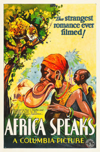 "Africa Speaks! (Columbia, 1930). One Sheet (27"" X 41"") Style B"