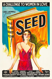 "Seed (Universal, 1931). One Sheet (27"" X 41"") Book Style"