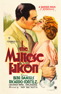 "The Maltese Falcon (Warner Brothers, 1931). One Sheet (27"" X 41"")"