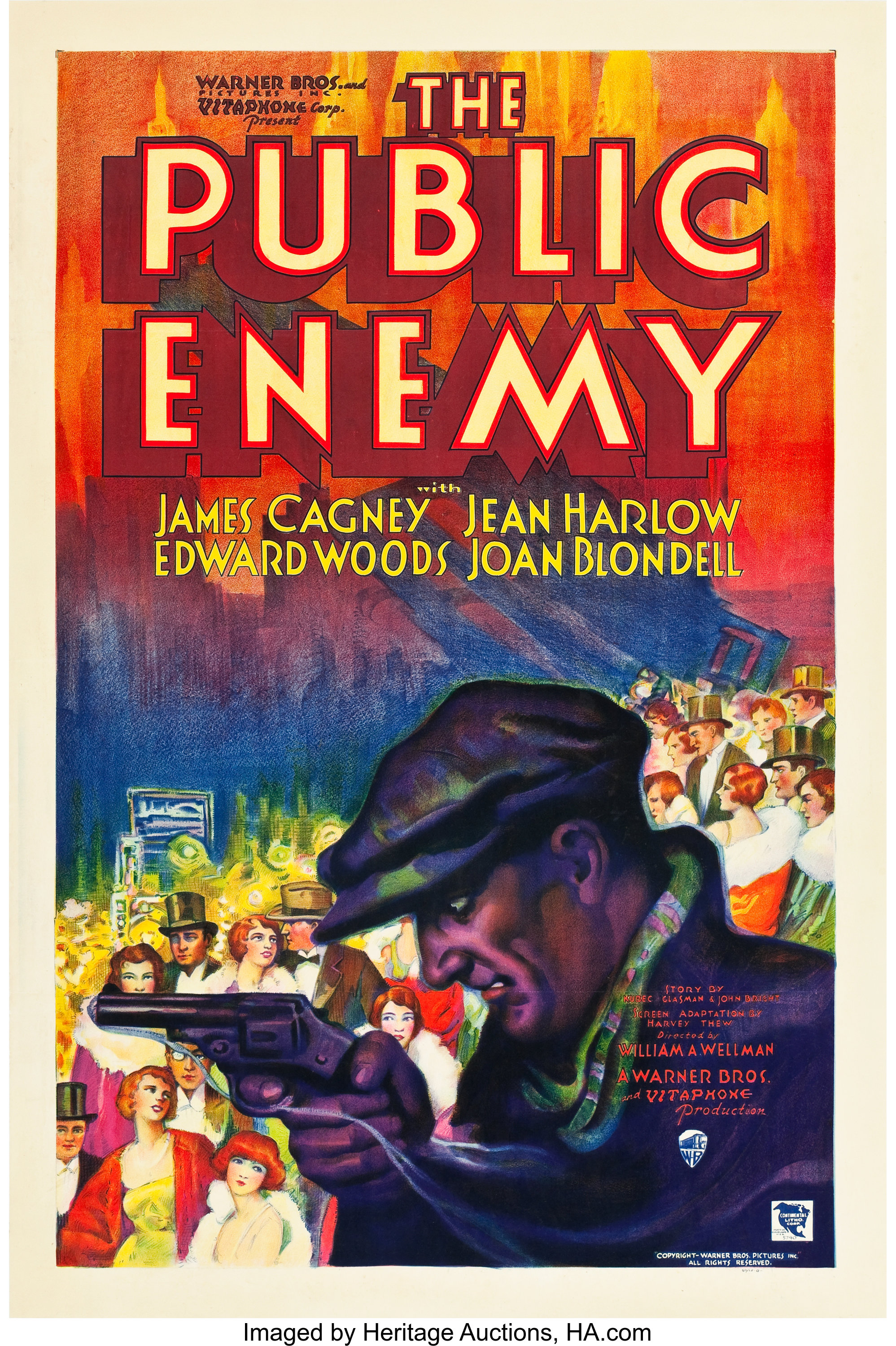 """The Public Enemy (Warner Brothers, 1931). One Sheet (27"""" X 41"""") 
