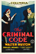 "Movie Posters:Crime, The Criminal Code (Columbia, 1931). One Sheet (27"" X 41"") Style B....."