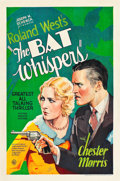 "Movie Posters:Horror, The Bat Whispers (United Artists, 1930). One Sheet (27"" X 41"").Style B.. ..."