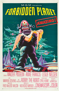 "Forbidden Planet (MGM, 1956). One Sheet (27"" X 41"")"