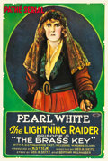"Movie Posters:Serial, The Lightning Raider (Pathé, 1919). One Sheet (27"" X 41"") Episode 5--"" The Brass Key."". ..."