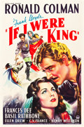 "Movie Posters:Adventure, If I Were King (Paramount, 1938). One Sheet (27"" X 41"").Adventure.. ..."