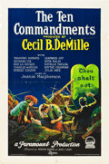 "Movie Posters:Drama, The Ten Commandments (Paramount, 1923). One Sheet (27"" X 41"") StyleB.. ..."