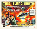 "Movie Posters:Science Fiction, This Island Earth (Universal International, 1955). Half Sheet (22""X 28"") Style B.. ..."