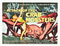 """Movie Posters:Science Fiction, Attack of the Crab Monsters (Allied Artists, 1957). Half Sheet (22""""X 28"""").. ..."""