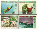 "Movie Posters:Horror, Revenge of the Creature (Universal International, 1955). Title Lobby Card and Lobby Cards (3) (11"" X 14"").. ... (Total: 4 Items)"