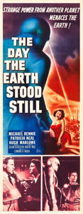 "Movie Posters:Science Fiction, The Day the Earth Stood Still (20th Century Fox, 1951). Insert (14"" X 36"").. ..."