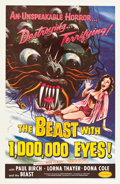 """Movie Posters:Science Fiction, The Beast with 1,000,000 Eyes! (American Releasing Corp., 1955).One Sheet (27"""" X 41""""). Science Fiction.. ..."""