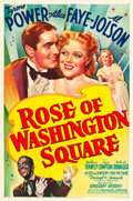 "Movie Posters:Musical, Rose of Washington Square (20th Century Fox, 1939). One Sheet (27""X 41"") Style B.. ..."