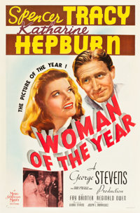 """Woman of the Year (MGM, 1942). One Sheet (27"""" X 41"""") Style C"""
