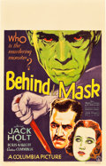 "Movie Posters:Crime, Behind the Mask (Columbia, 1932). Window Card (14"" X 22"").. ..."