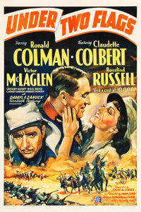 """Under Two Flags (20th Century Fox, 1936). One Sheet (27"""" X 41"""") Style A. Adventure"""