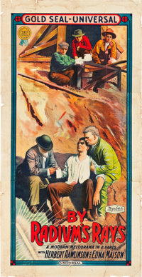 "By Radium's Rays (Universal Film Manufacturing, 1914). Three Sheet (41"" X 81"")"