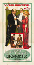 "Movie Posters:Short Subject, Diplomatic Flo (Universal Film Manufacturing, 1914). Three Sheet(41"" X 81"").. ..."
