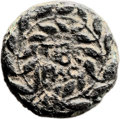 Ancients:Judaea, Ancients: Herod Antipas (4 BC - 39 AD). Mint of Tiberias. Fulldenomination. AE (24mm, 10.79 gm, 12h). ...