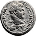 Ancients:Judaea, Ancients: Ascalon, Judaea. Caracalla (198 - 217 AD). AR billontetradrachm (26mm, 12.36 gm, 12h). ...