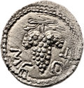 Ancients:Judaea, Ancients: Bar Kokhba Revolt (132 - 135 AD). AR irregular zuz (3.30 gm, 1h). ...