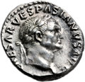 Ancients:Judaea, Ancients: Vespasian (AD 69 - 79). AR denarius (19mm, 3.42 gm, 12h)....