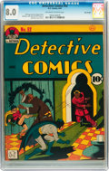 Golden Age (1938-1955):Superhero, Detective Comics #52 Billy Wright pedigree (DC, 1941) CGC VF 8.0 Off-white to white pages....