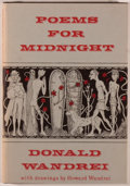 Books:Horror & Supernatural, Donald Wandrei. Poems for Midnight. With four pen-and-ink drawings by Howard Wandrei. Sauk City: Arkham House, 1964....