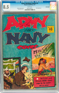 Golden Age (1938-1955):War, Army and Navy Comics #1 Billy Wright pedigree (Street & Smith, 1941) CGC VF+ 8.5 White pages....