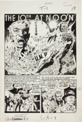 """Original Comic Art:Complete Story, Wally Wood Weird Fantasy #11 Complete 6-Page Story """"The 10th at Noon"""" Original Art (EC, 1952)...."""