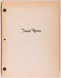 Books:Fiction, [Production Script]. Horton Foote. Tender Mercies. New York:Antron Media, [1981]. Latest revisions dated 11/16/81. ...