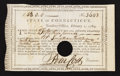 Colonial Notes:Connecticut, Connecticut Treasury Certificate 6% Interest £53 February 1, 1789Extremely Fine Anderson CT 26.. ...