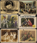 "Movie Posters:Miscellaneous, Silent Film Lot (Various, 1921-1925). Lobby Cards (6) (11"" X 14""). Miscellaneous.. ... (Total: 6 Items)"