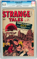 Silver Age (1956-1969):Horror, Strange Tales #97 (Marvel, 1962) CGC VG 4.0 Cream to off-whitepages....