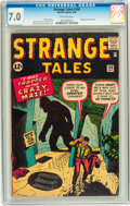 Silver Age (1956-1969):Mystery, Strange Tales #100 (Marvel, 1962) CGC FN/VF 7.0 Off-white topages....