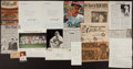 Baseball Collectibles:Others, Baseball Greats Signed and Unsigned Flats Lot....