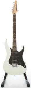 Musical Instruments:Electric Guitars, Yamaha RGZ 112P White Solid Body Electric Guitar, Serial#HJ22255....