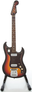 Musical Instruments:Electric Guitars, 1960's Conrad Sunburst Solid Body Electric Guitar...