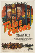 """Movie Posters:Western, False Colors (United Artists, 1943). One Sheet (27"""" X 41""""). Western.. ..."""