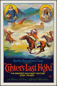"""Custer's Last Fight (Quality Amusement Corporation, R-1925). One Sheet (27"""" X 41""""). Western"""
