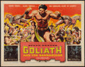 "Movie Posters:Adventure, Goliath and the Barbarians (American International, 1959). HalfSheet (22"" X 28""). Adventure.. ..."
