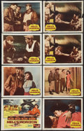 """Movie Posters:War, Hell's Horizon (Columbia, 1955). Lobby Card Set of 8 (11"""" X 14"""").War.. ... (Total: 8 Items)"""
