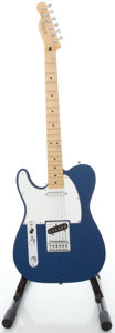 Musical Instruments:Electric Guitars, 2004 Fender Telecaster MIM Lefty Metallic Blue Solid Body ElectricGuitar, Serial #MZ4077531....