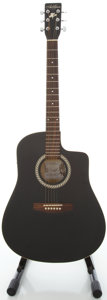 Musical Instruments:Acoustic Guitars, Art & Lutherie Wild Cherry CW Black Acoustic Electric Guitar,Serial #03045603....
