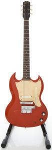 Musical Instruments:Electric Guitars, Circa 1965 Gibson Melody Maker Cardinal Red Solid Body ElectricGuitar, Serial #530532....