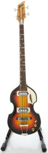 Musical Instruments:Bass Guitars, 1960's Greco Violin Sunburst Electric Bass Guitar...